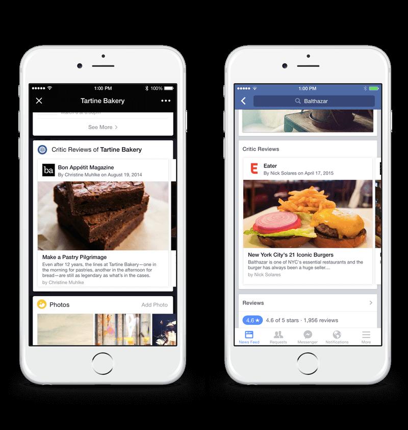 facebook restaurante