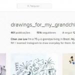 Este avô usa o Instagram para partihar desenhos com os netos