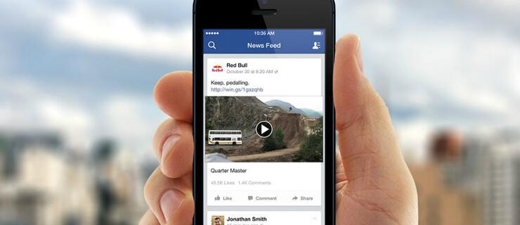 vídeos no facebook